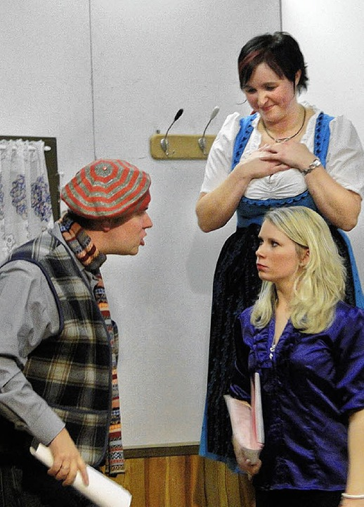 """Theater macht Freude"" mit Norman Seybold, Ramona Lais, Carina Lais    Foto: Frank"