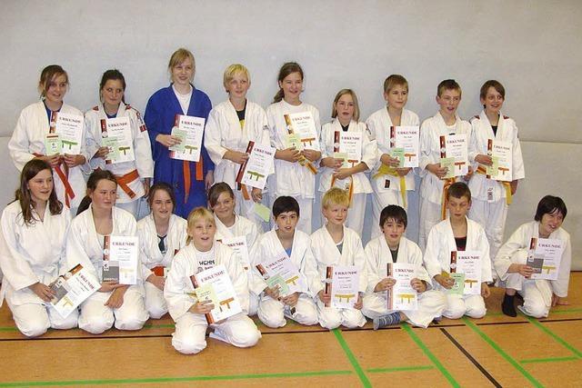 Gürtelprüfung der TSG Judoabteilung