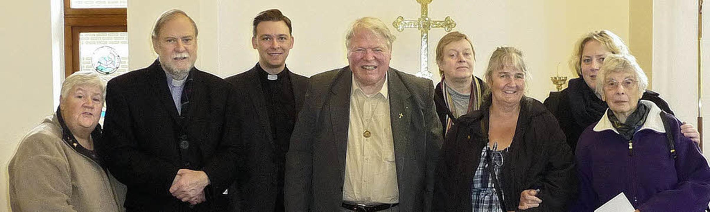 Besuch der lutherischen Kirche St. Pau...rchill, Anne Fischer, Marjorie Hilton   | Foto: privat