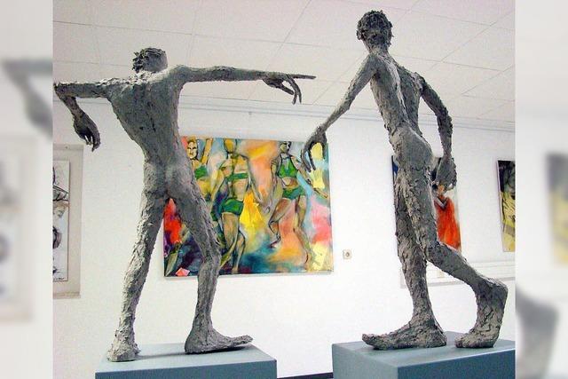 Letzte Doppelausstellung in der Galerie oh