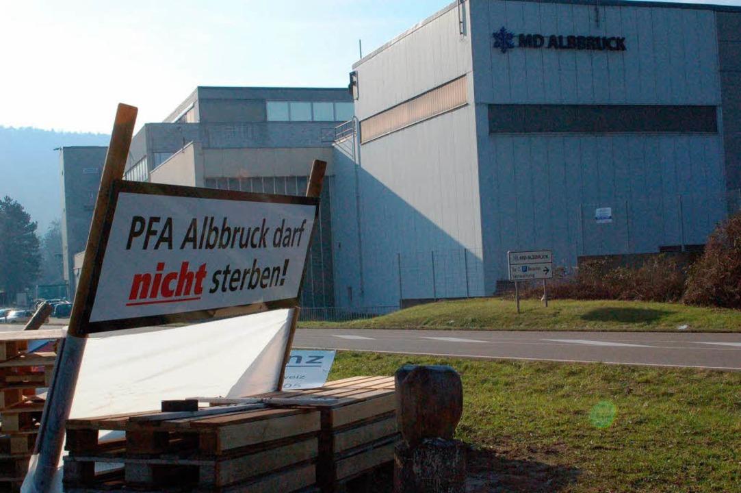 Der Protest blieb wirkungslos, die Fabrik stirbt.  | Foto: Franz Schmider