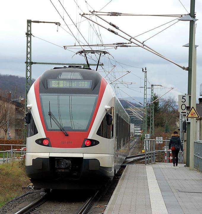 Mehr S-Bahn zwischen Lörrach und Basel... der scheint derzeit eher ungreifbar.   | Foto: Nikolaus Trenz