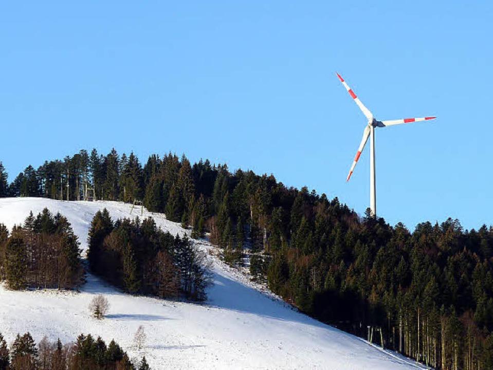 Wenn es nach dem Willen der Landesregi... Windräder geben als jenes in Fröhnd.   | Foto: sattelberger