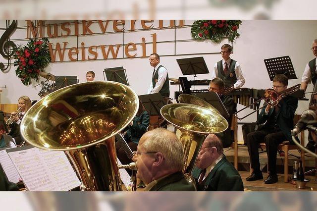 Musikverein Weisweil unter Dampf