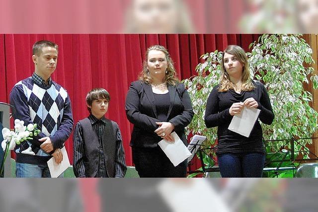 Hervorragende Musiker und ein junger Forscher geehrt