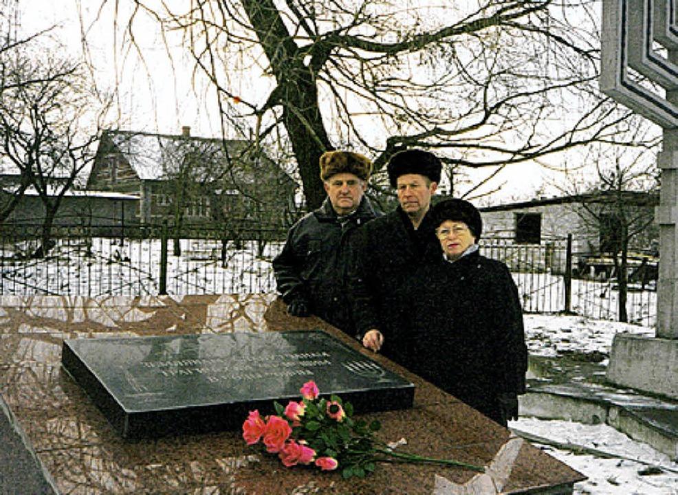 Die im Buch befragte und heute in Weil...sts in Slavuta (Ukraine) im Jahr 2002.  | Foto: privat
