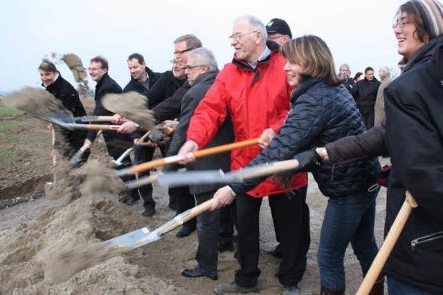Spatenstich: In Bad Krozingen fällt der Startschuss für das neue Baugebiet Kurgarten