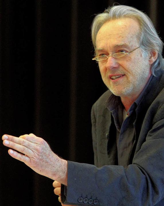 Siemen Rühaak las beim Literaturkonzert Adalbert Stifter.   | Foto: Christian heck