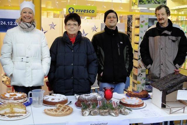 Kuchenverkauf für die BZ