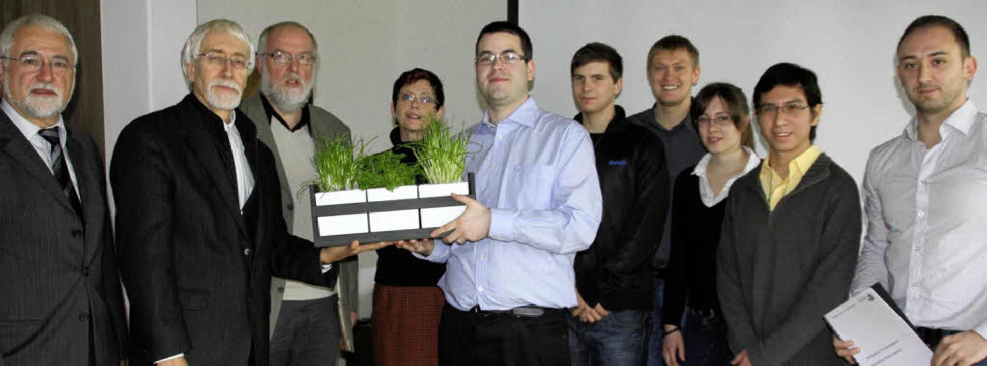 Die Studenten der Hochschule Furtwange...Leistung seines Teams sehr zufrieden.   | Foto: Sabine Model