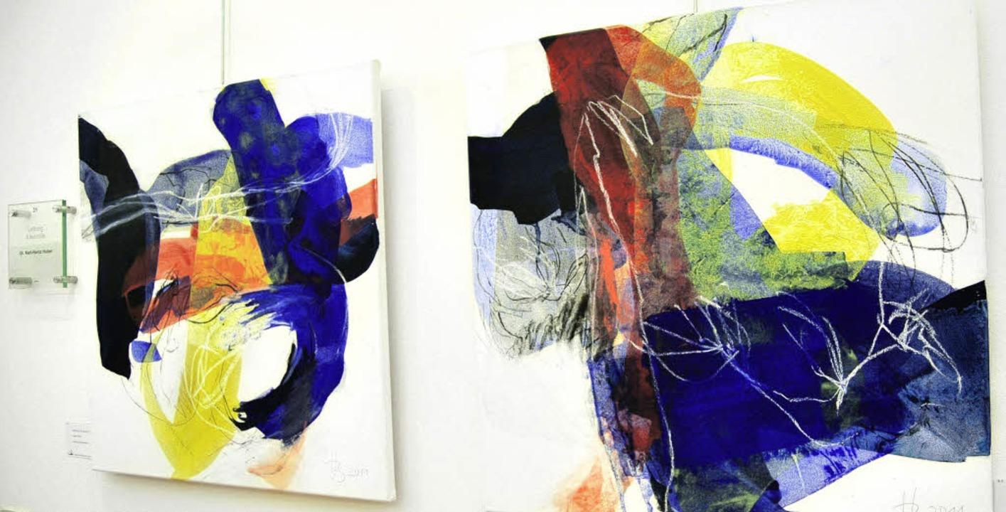 Zwei Werke der regionalen Künstlerin H...ndorf sind im St. Josefshaus zu sehen.  | Foto: Danielle Hirschberger