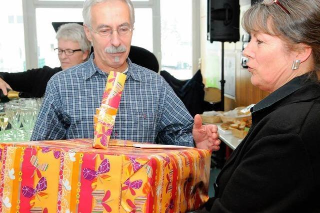 Hausmeister Günter Junker verabschiedet