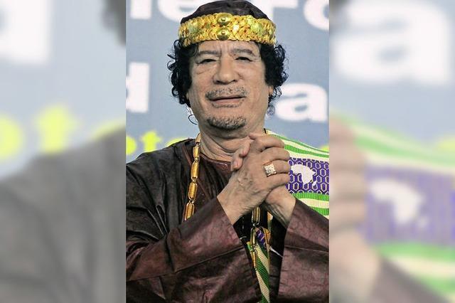 1800 feiern Gaddafi