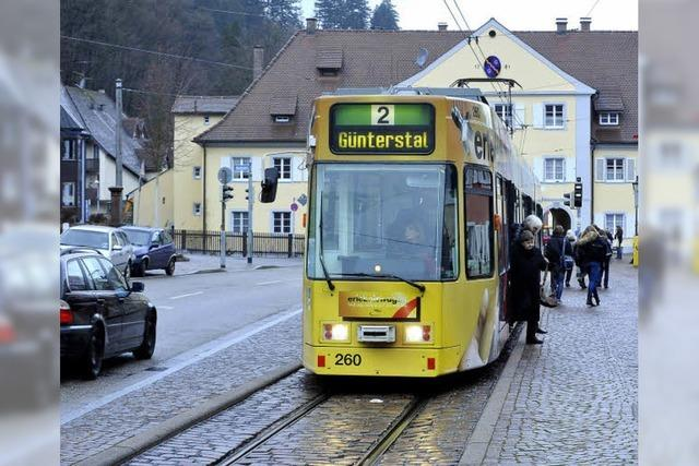 Linkes Ding am Tram-Halt