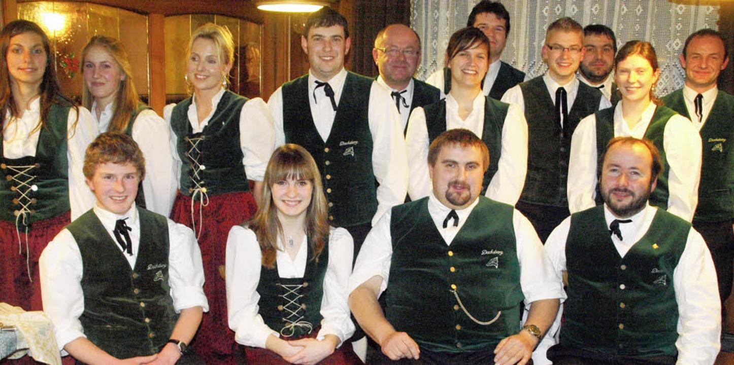 Den Vorstand der Trachtenkapelle Dachs...ser, Christian Rüd und Markus Schlegel  | Foto: Karin Stöckl-Steinebrunner