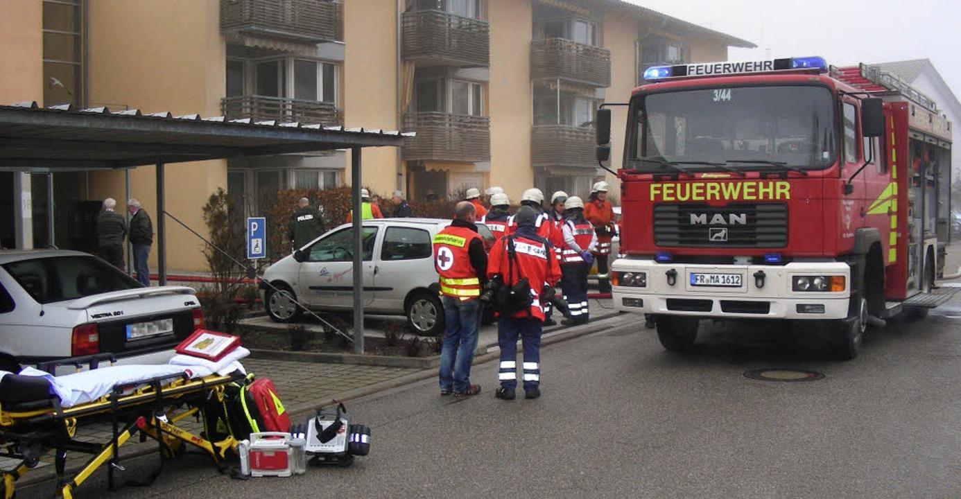 Nur tot geborgen werden konnte von Krä...nt  ein Schwelbrand ausgebrochen war.   | Foto: mario schöneberg