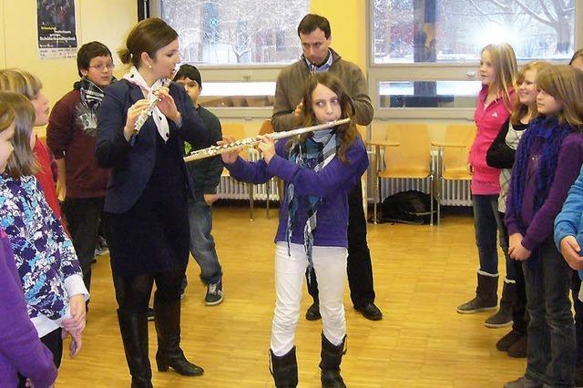 Profi-Musiker im Klassenzimmer