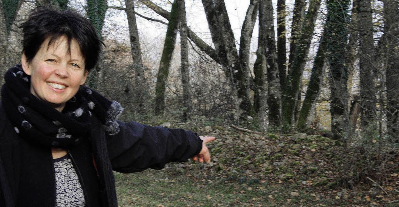 Martina Attinger aus Freiburg hat Spur...ldrand an der Ostseite des Schönbergs.  | Foto: Silvia Faller