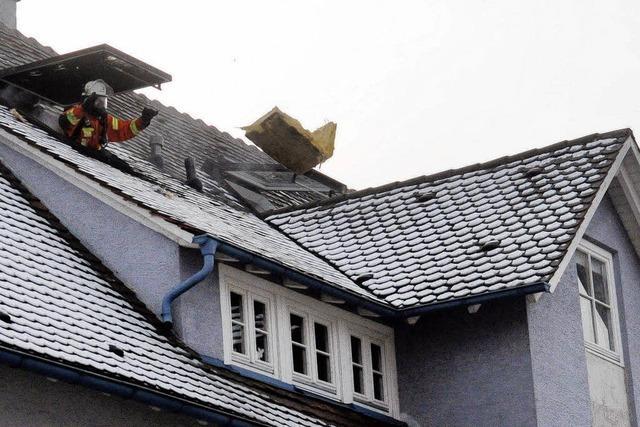 Wohnungsbrand unterm Dach