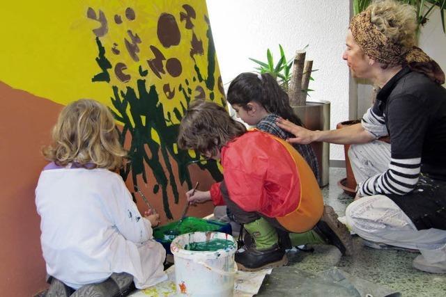 Malerei für den Schulhof