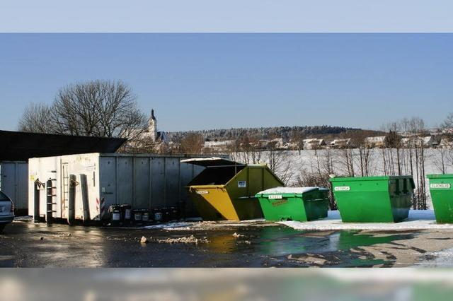 Kein Bauschutt auf dem Recyclinghof
