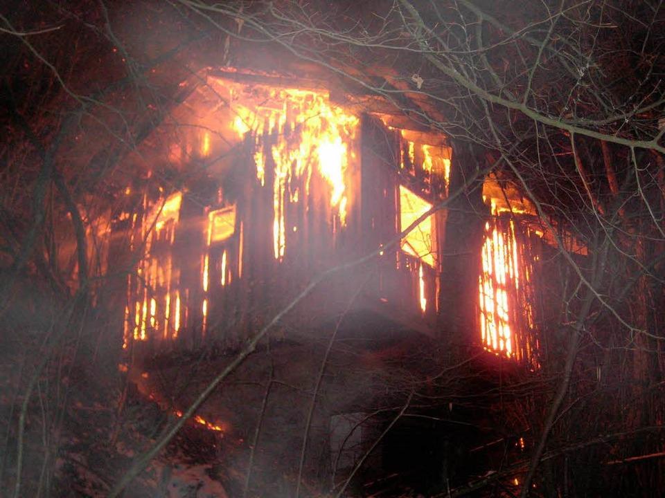 Brand auf dem Dinkelberg in Wehr  | Foto: bz
