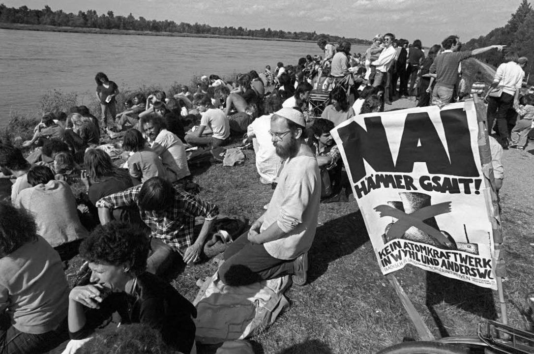 Der Widerstand gegen die  Atomkraft ha...nstration  im September 1983 bei Wyhl.  | Foto: Verwendung weltweit, usage worldwide