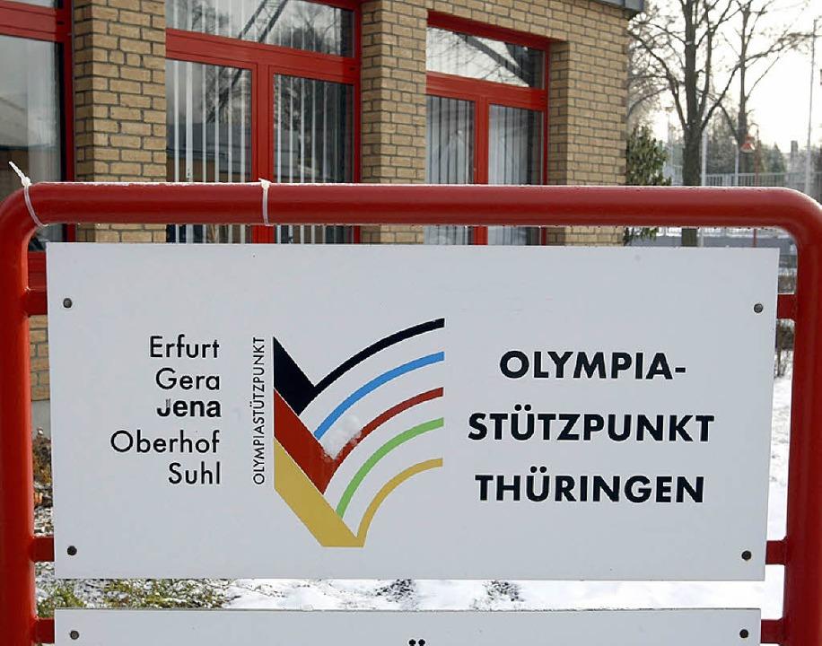 Ort der neuesten Dopingaffäre in Deuts...d: der Olympiastützpunkt   in Erfurt.     Foto: DPA