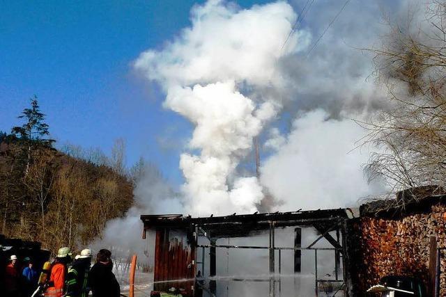 Brand hält Feuerwehr auf Trab