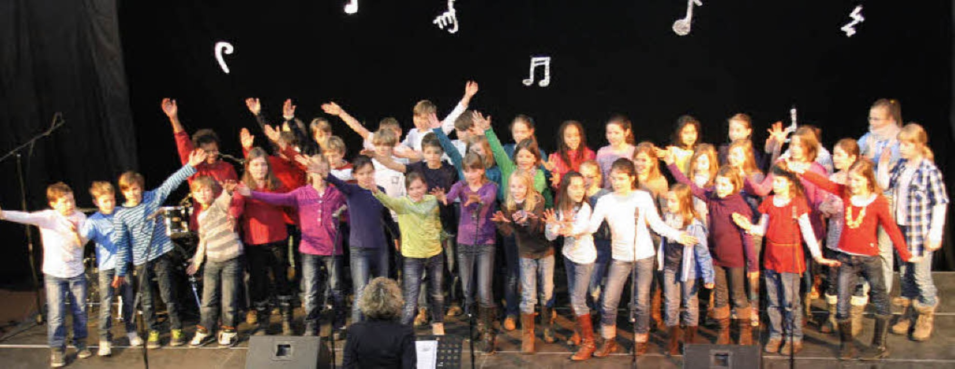 "Schule macht Musik: Die Kids waren vol...""Varieté""  in Kirchzarten.  | Foto: Hans Jürgen Kugler"