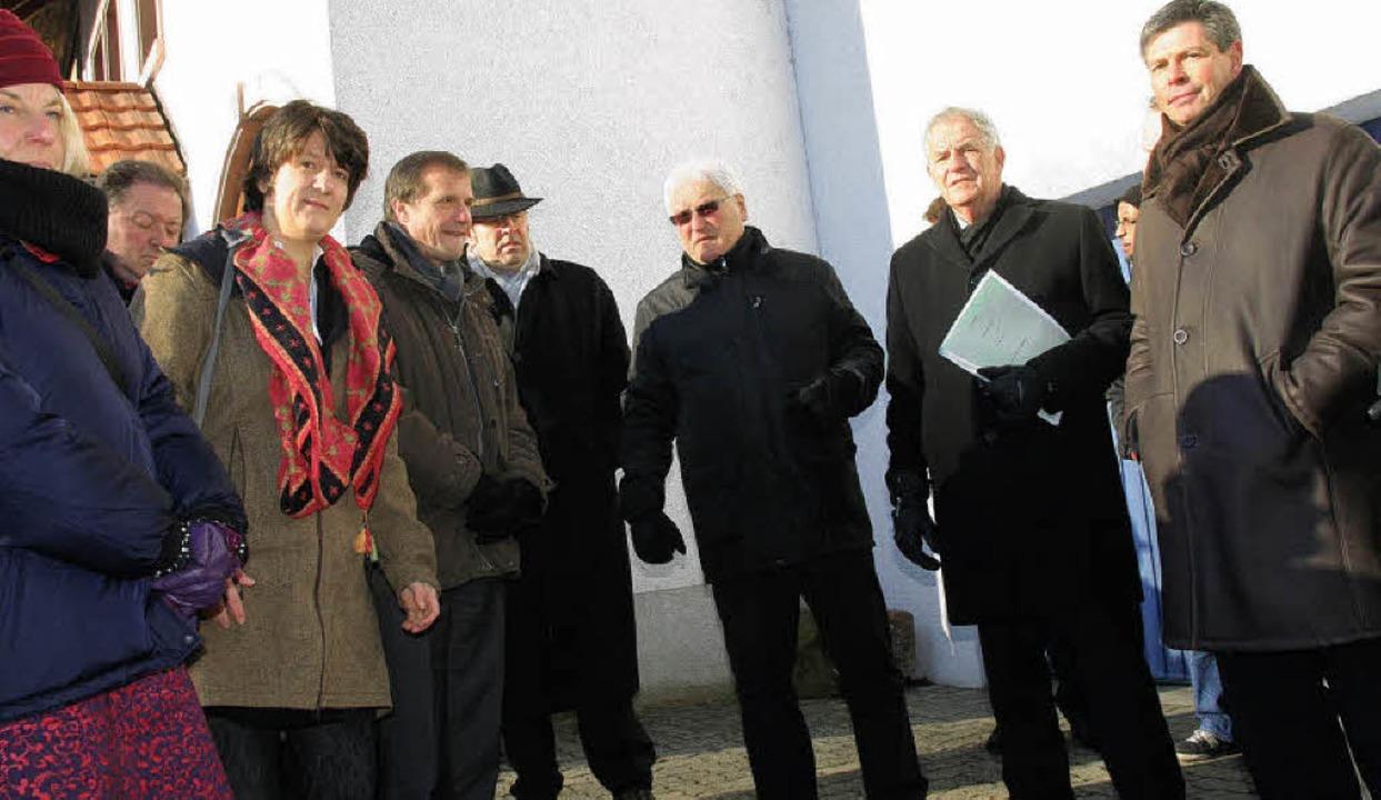 Ein offenes Ohr für die verkehrsrechtl...Zweiter von rechts) in Schopfheim war.  | Foto: Marlies Jung-Knoblich