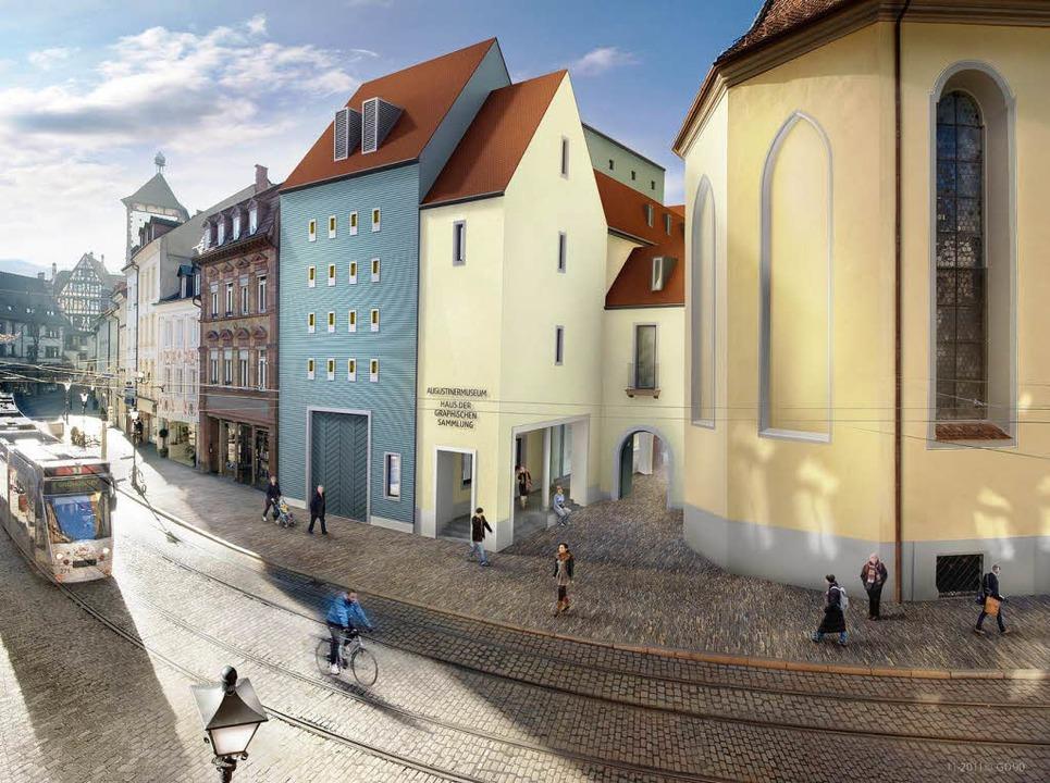 Leicht verändert hat Architekt Mäckler den geplanten Neubau an der Salzstraße.    Foto: visualisierung: markus dold