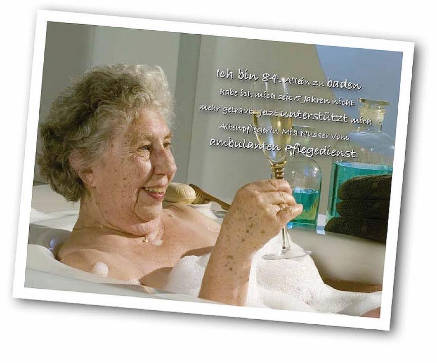 Zum Wohl – dank ambulanter Pfleg... sie ihr Bad endlich wieder genießen.   | Foto: dbfk