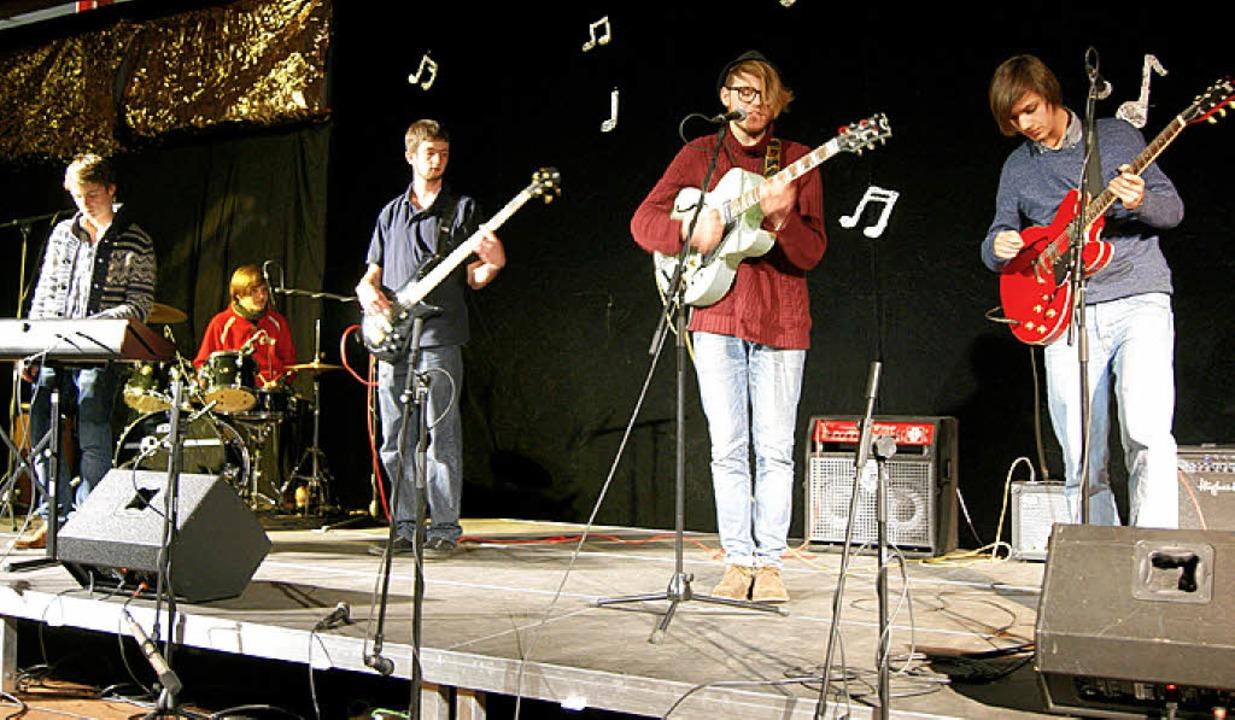 Die Band RTC präsentierte t auf dem Ko...Curie-Gymnasiums eigene Kompositionen.    Foto: Charlotte Schmid