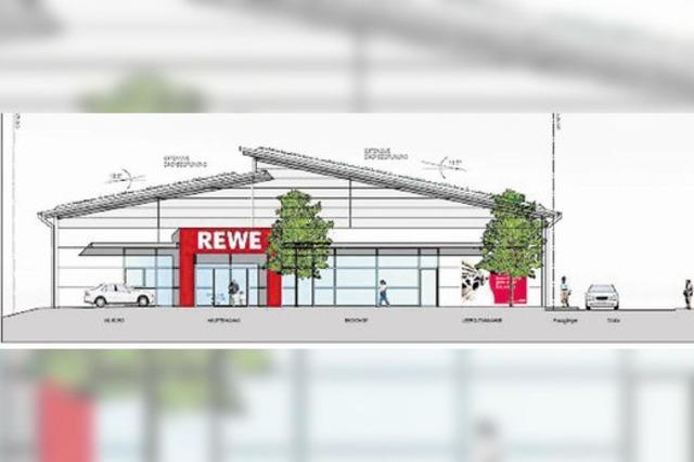 Gemeinderat genehmigt Rewe-Gebäude