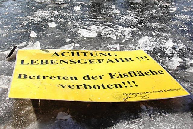 DLRG warnt vor Spaziergängen auf dem Eis