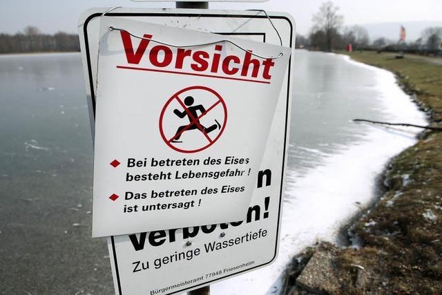 Eislaufen auf eigene Gefahr