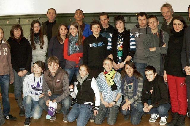 Schüler aus Poligny zu Gast