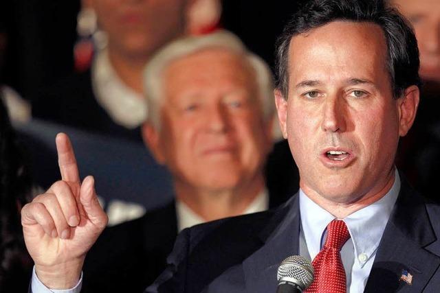 Vorwahlen in den USA: Außenseiter Santorum holt auf