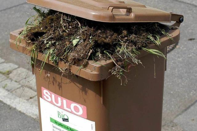 Müllabfuhr kämpft mit vereistem Bio-Abfall