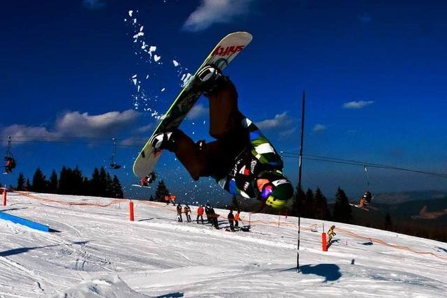 Akrobatik und mutige Sprünge rocken den Snowpark