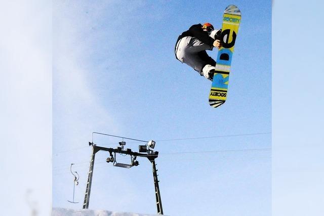 Rampenflug über den Schnee