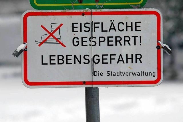 Zwei dramatische Eisunfälle in Freiburg und Offenburg