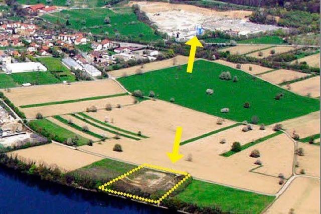 Soll am Rhein wieder Kies abgebaut werden?
