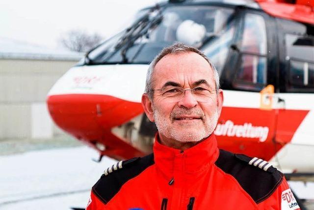 Hubschrauberpilot rettet eingebrochenen Eisläufer