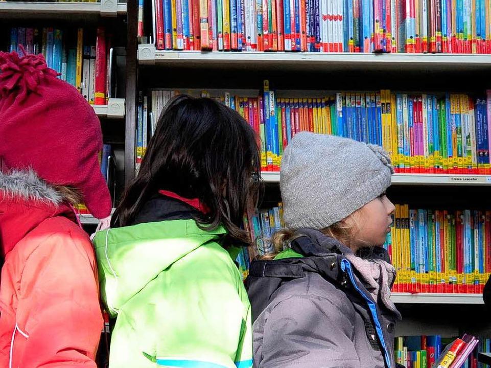 85 Prozent der Busnutzer sind Kinder, ...adtbibliothek in der Innenstadt können    Foto: Ingo Schneider