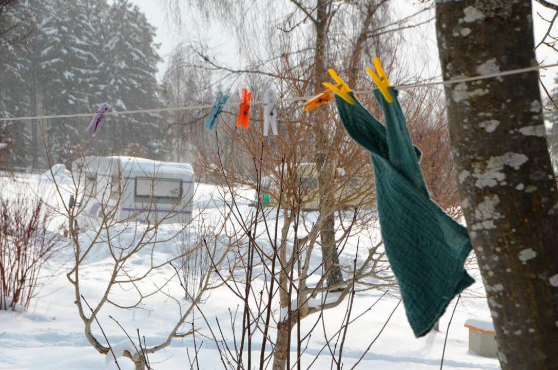 ...die Wäsche nicht mehr trocknet, sondern nur noch festfriert...  | Foto: Kathrin Blum