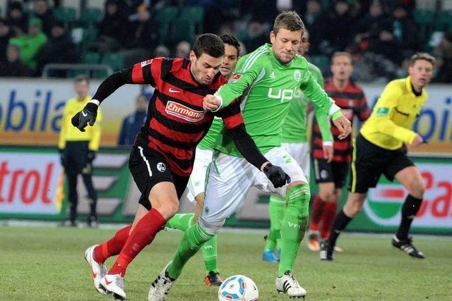 Der SC Freiburg spielt auf Augenhöhe mit Wolfsburg - und verliert