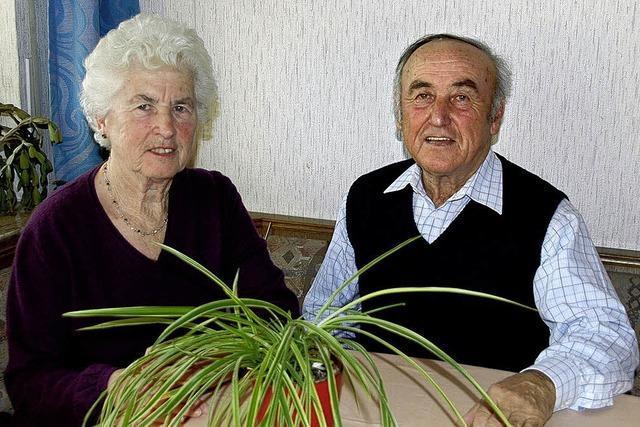 Ernst und Hilde Genter sind seit 50 Jahren verheiratet