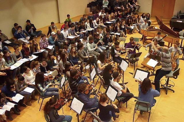 Schulchor und -Orchester aus Israel zu Besuch